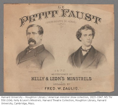 Kelly and Leon sheet music from the Harvard Theatre Collection