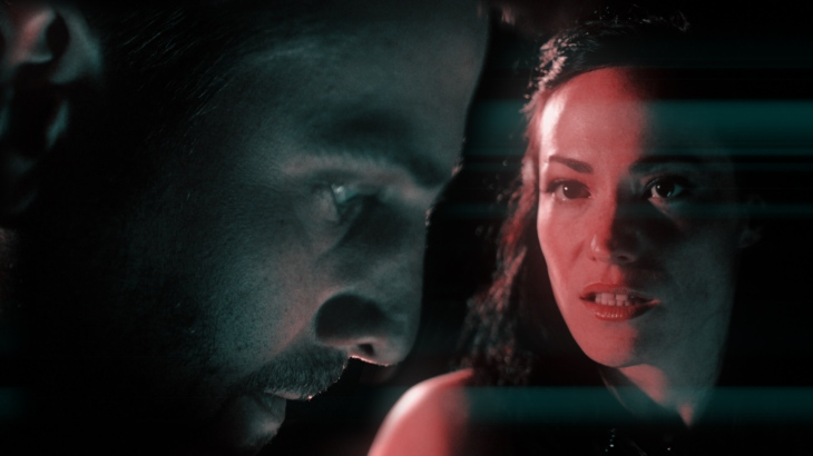 "Rusty Sneary and Vanessa Severo in a still from the ""Venus in Fur"" trailer"